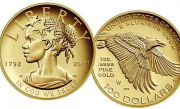 EE.UU. acuña moneda con la imagen de la Estatua de la Libertad negra