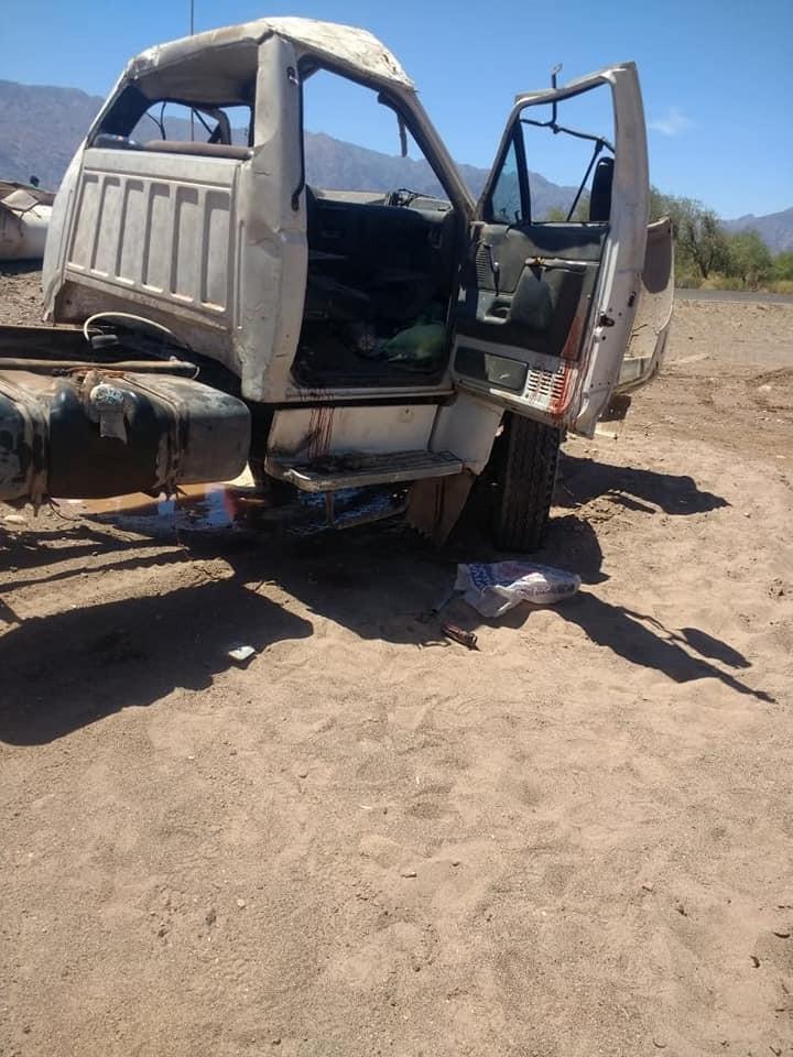 Grave Accidente en Fiambala se Desarmó un Camión de la Municipalidad en la Ruta 60