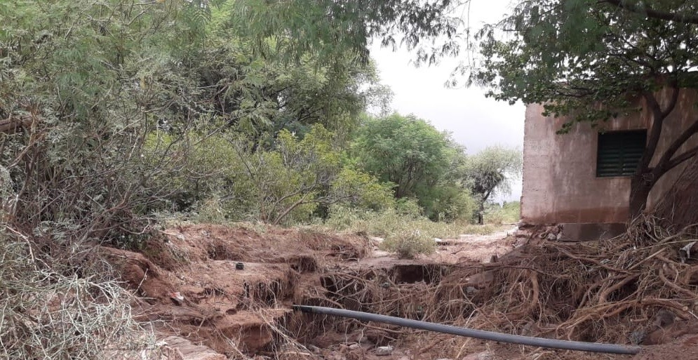 Crítica situación por lluvias en Palo Blanco Dpto. Tinogasta