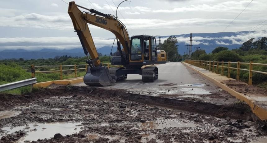 Comenzaron los trabajos de reparación sobre el puente de Sumalao
