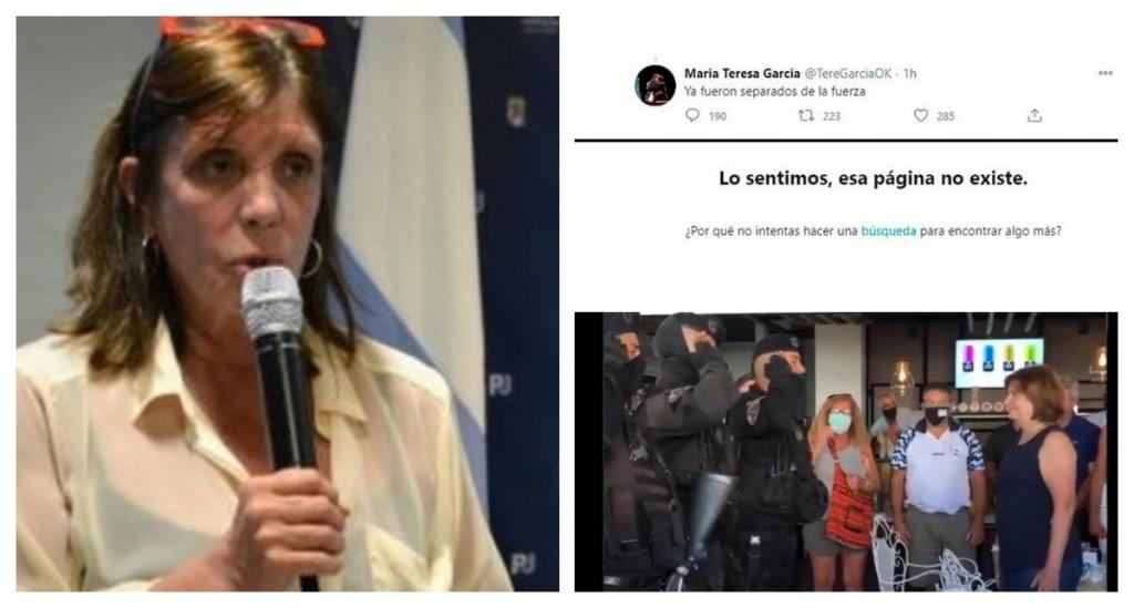 La ministra de Gobierno bonaerense anunció que habían desplazado a los policías que saludaron a Patricia Bullrich y después borró el tuit