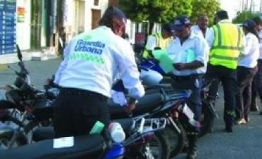 Secuestran 10 motos en operativo de control vehicular