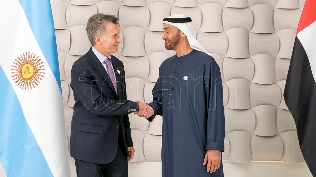 Macri se reunió con el príncipe de Emiratos Árabes, última actividad de su gira