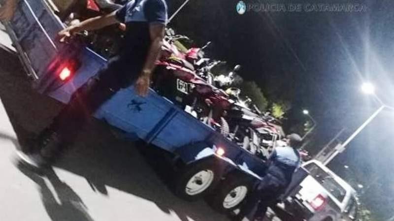 71 vehículos secuestrados  en Recreo