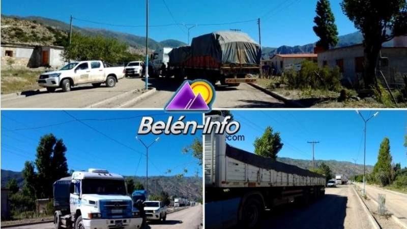 Conflicto minero: camioneros bloquean Ruta nº 43