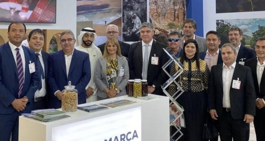 Raúl Jalil  junto a Intendentes Peronistas en la feria Gulfood en Dubái