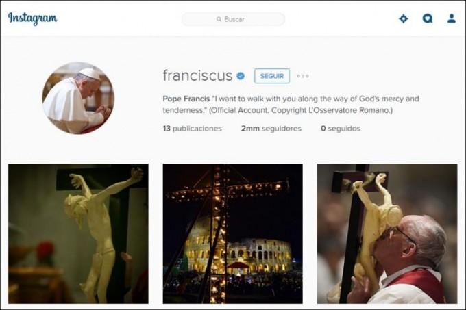 Francisco superó los dos millones de seguidores en su primera semana en Instagram