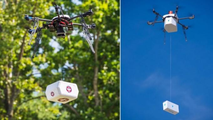 Un drone hizo el primer delivery