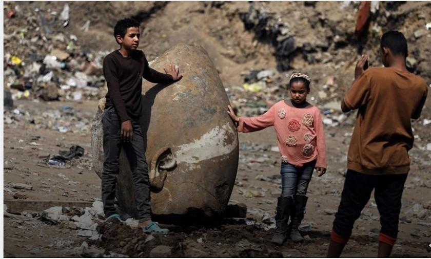 Egipto: hallaron una estatua gigante del faraón Ramsés II