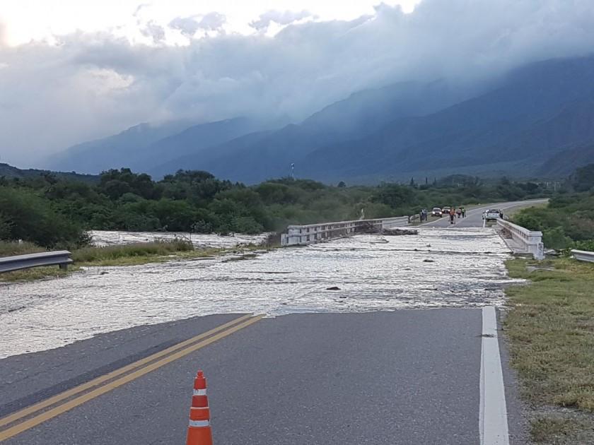 Se rehabilito el paso por ruta 38 en el Portezuelo