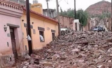 Jujuy: alud de piedra y barro provocó destrozos en Tilcara
