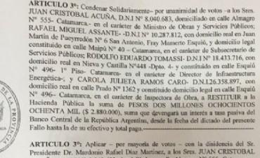 Deben devolver $ 2.880.000 funcionarios de Brizuela del Moral