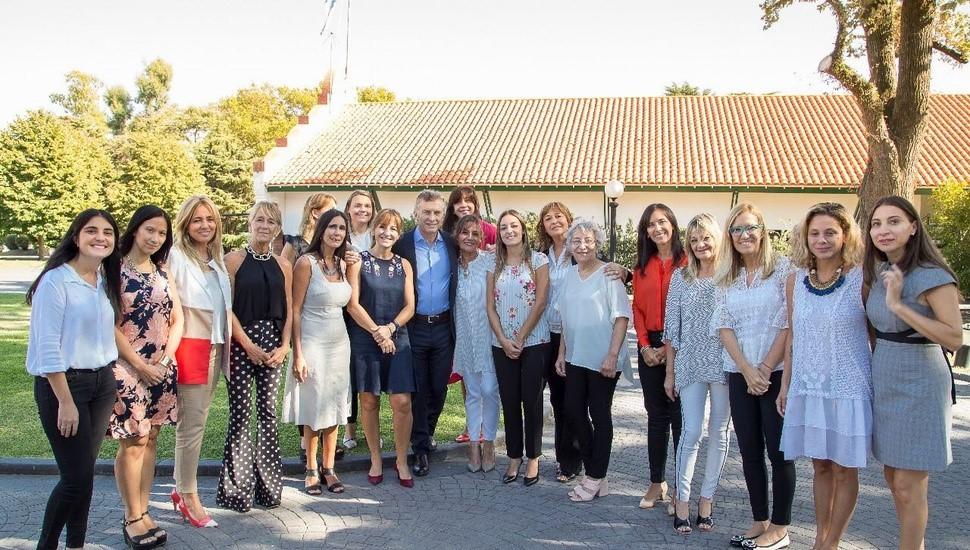 Mujeres del PRO se reunieron con el presidente Mauricio Macri en Olivos