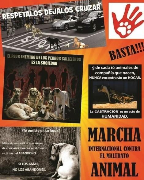 Marcha Internacional contra el Maltrato Animal