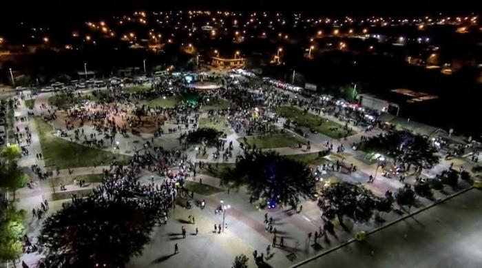 Inauguración de la Plaza Las Américas en Santa María