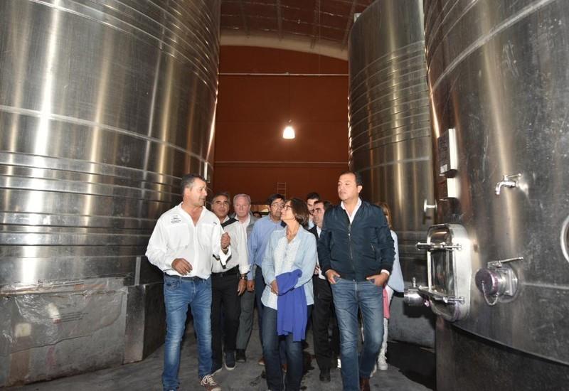 Corpacci visitó la bodega que planea exportar a China