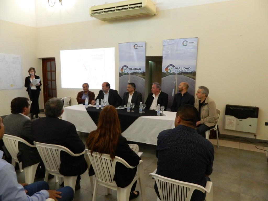 Vialidad Provincial presentó el proyecto de construcción de la Ruta N° 1 entre Singuil y Aconquija
