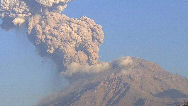 México en alerta por un volcán