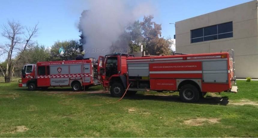 Incendio en El Parque Industrial El Pantanillo