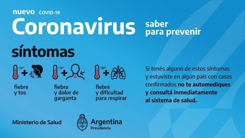 Coronavirus: Desde Salud piden a la población no alarmarse