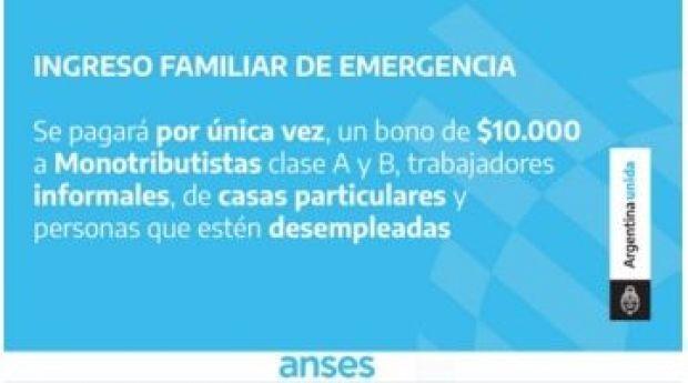 Se implementó el Ingreso Familiar de Emergencia,¿quienes pueden acceder?