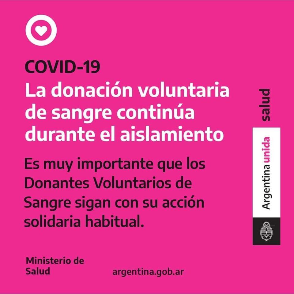 Convocatoria voluntaria para donar sangre