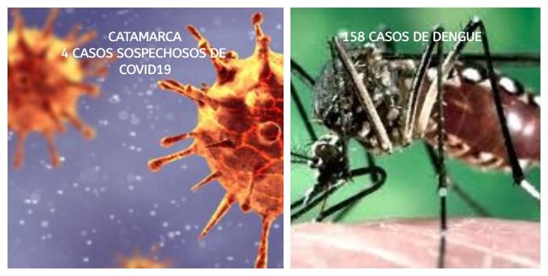 Cuatro nuevos casos sospechosos de COVID-19 y 12 de dengue