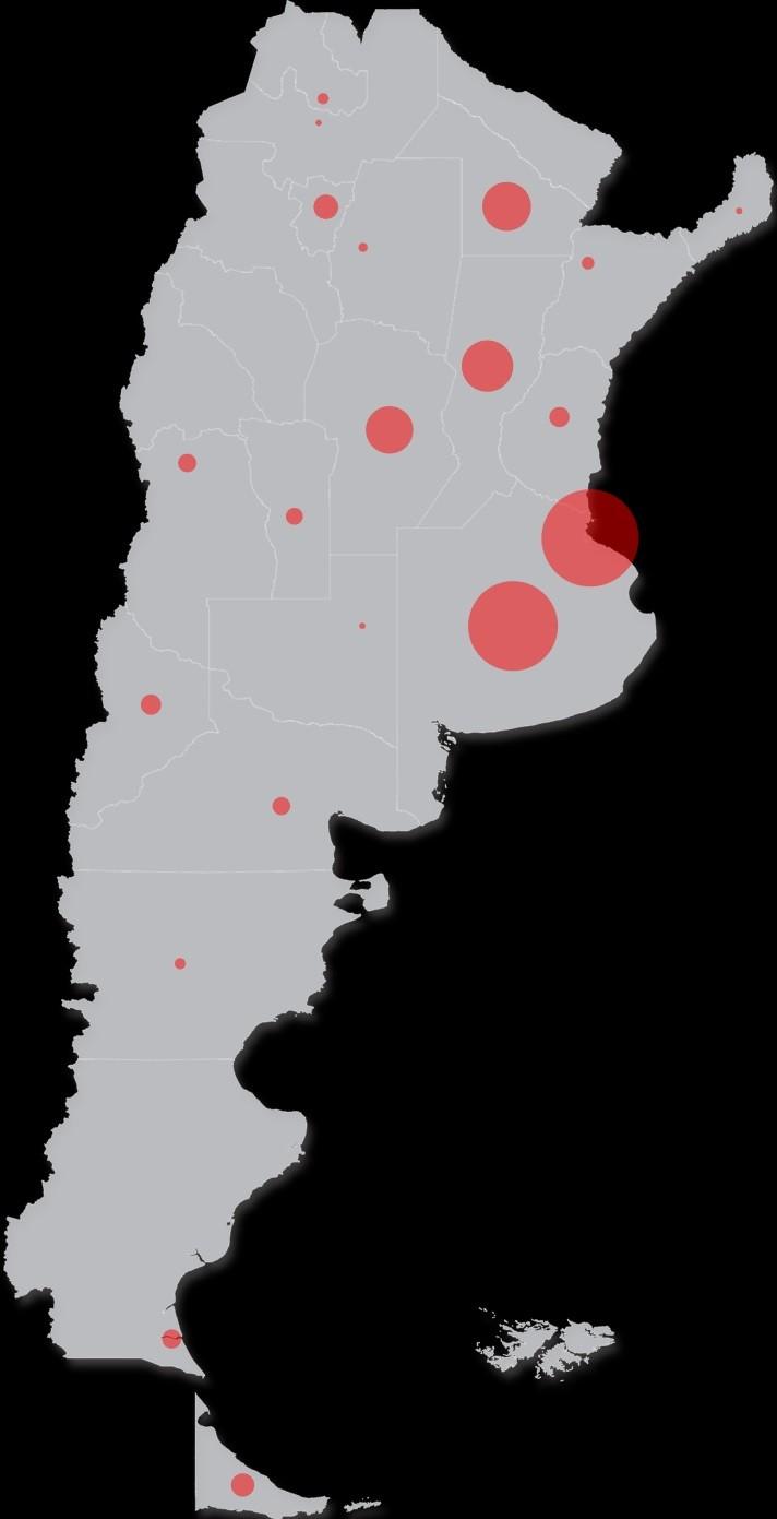 ¿Cuáles son las provincias que aún no registraron casos?