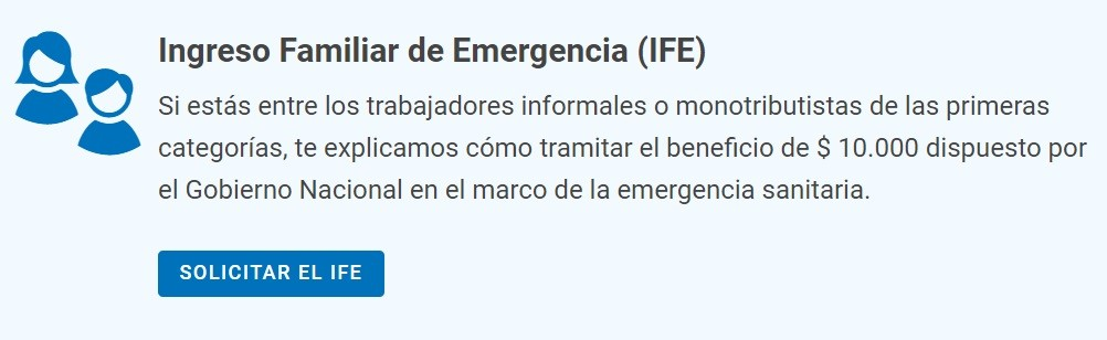 ANSES extenderá dos días para anotarse en el Ingreso Familiar de Emergencia de $10 mil