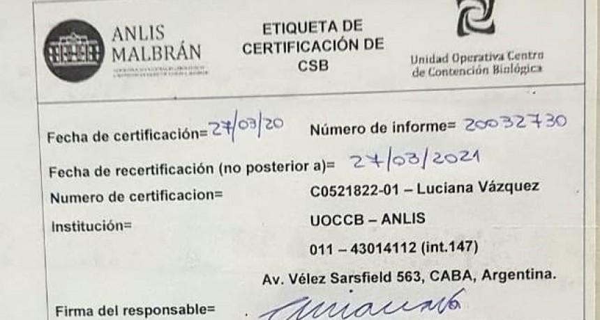Catamarca certificó para hacer pruebas de COVID-19