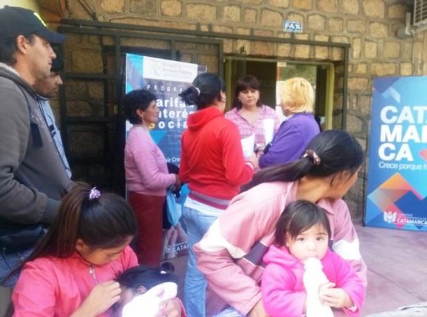 Cientos de pobladores Solicitaron la tarifa social en Aconquija