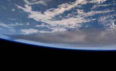 Así se ven las cenizas del volcán Calbuco desde el espacio