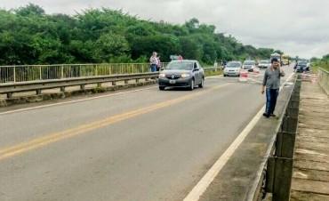 TUCUMAN RN N° 38: tránsito habilitado a media calzada en el puente sobre el río Marapa.