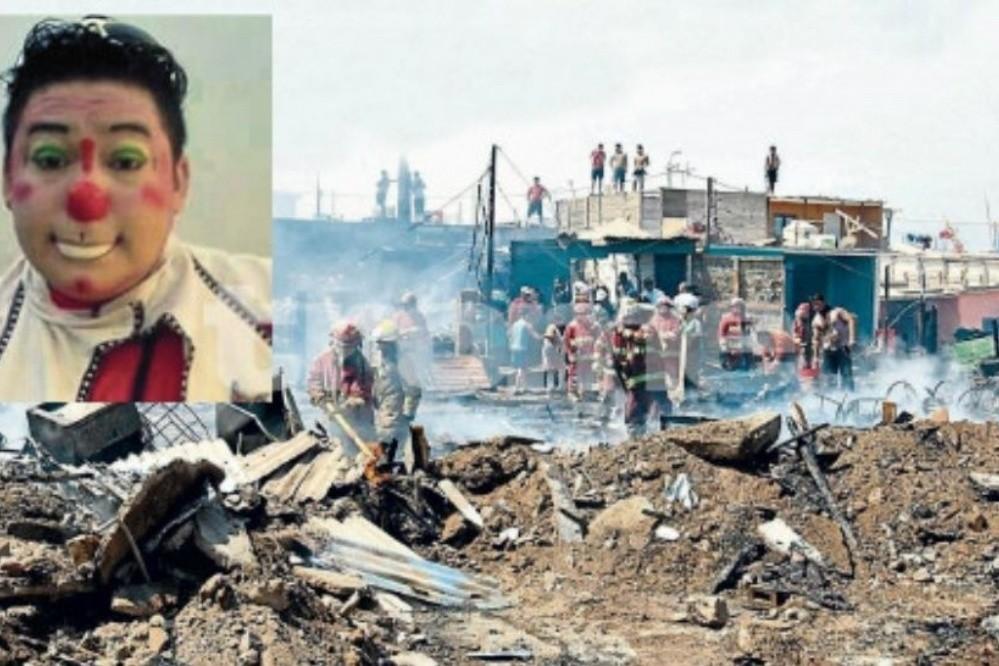 Payaso puso en riesgo su vida para salvar a unos niños de voraz incendio