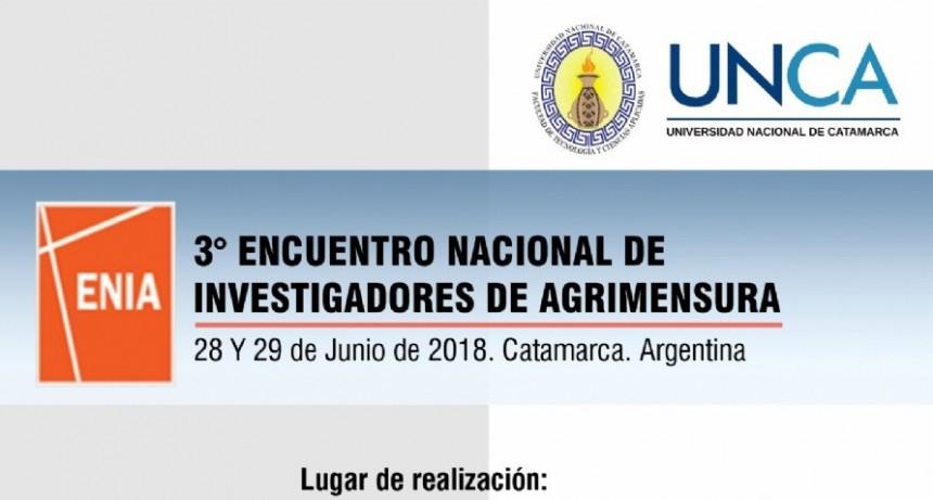 Catamarca será sede del Tercer Encuentro Nacional de Investigadores de Agrimensura