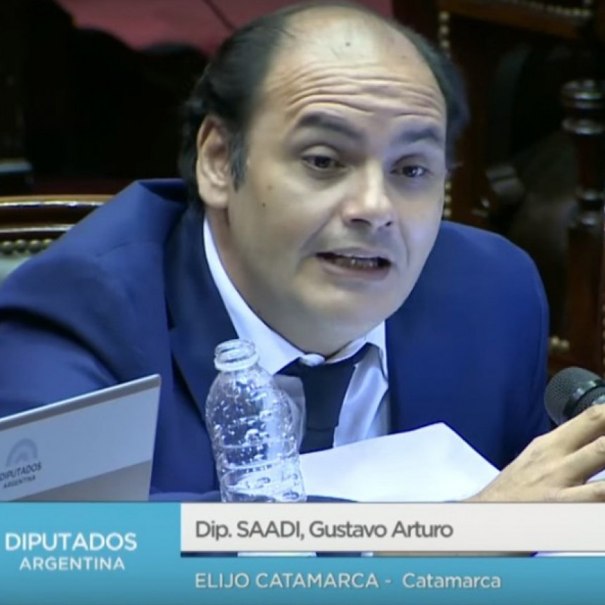 """Saadi """"Esto es injusto, discriminatorio y violatorio de la Constitución Nacional"""""""