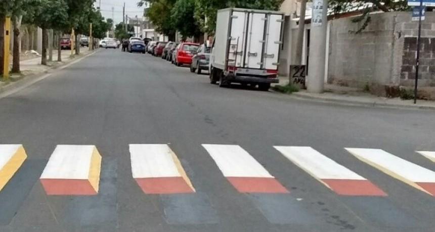 Colocan señalización horizontal  en 3D o con perspectiva