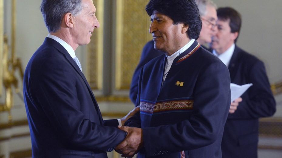 Mauricio Macri recibirá este lunes a Evo Morales en Casa Rosada
