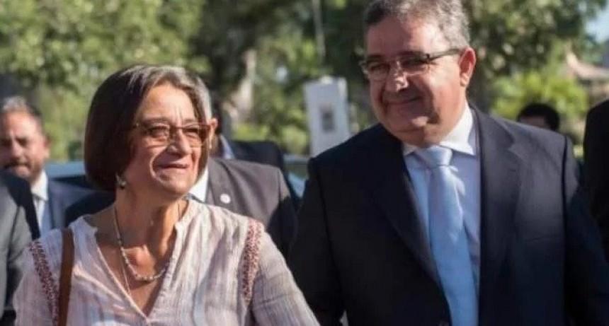 Raul Jalil candidato a gobernador  y Corpacci  candidata a legisladora nacional