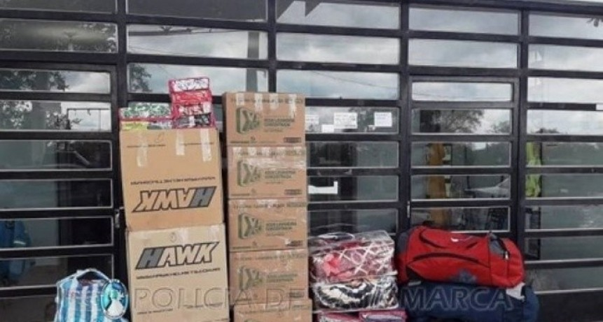 Incautan mercadería ilegal valuada en $100.000