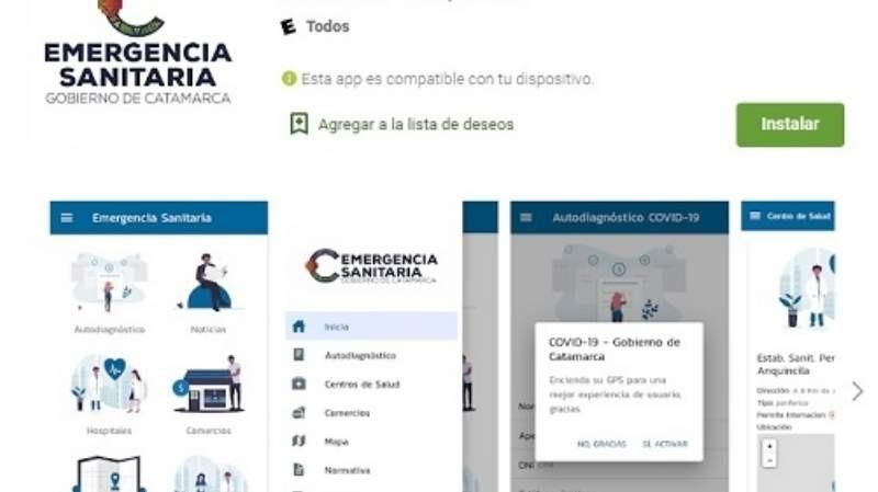 El Gobierno lanzó la aplicación Emergencia Sanitaria Catamarca