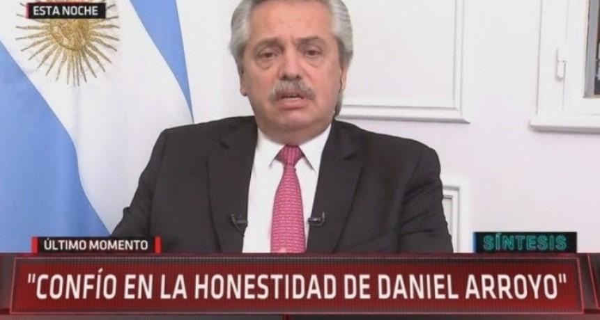 SOBREPRECIOS: Alberto Fernández ,confío en Daniel Arroyo y él va abrir una investigación interna