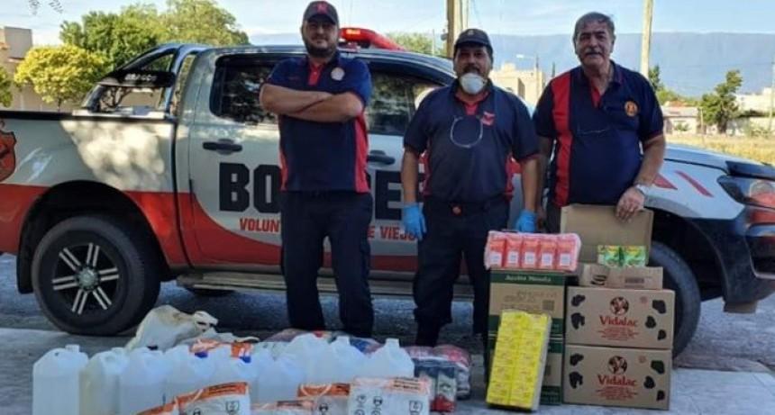 Bomberos recibieron kits de bioseguridad en caso de activarse el protocolo del COVID-19
