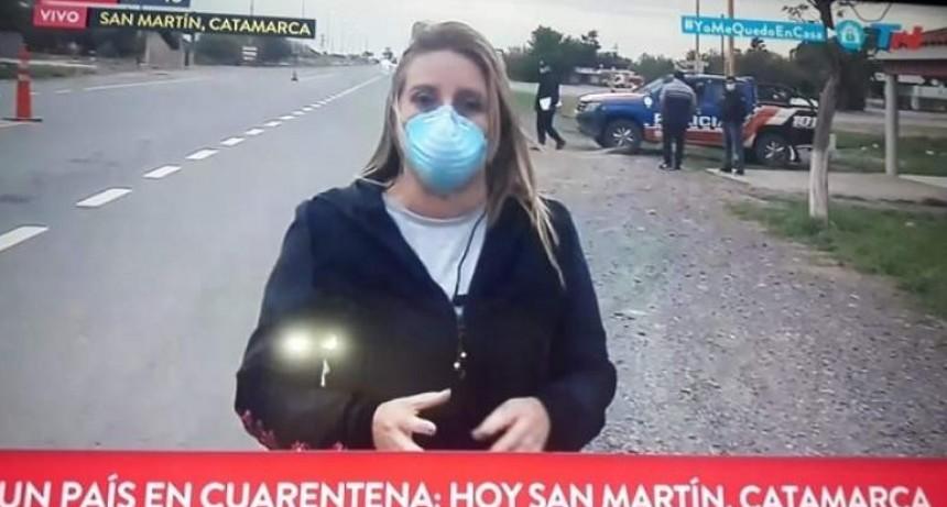 Movil de TN varado en San Martín