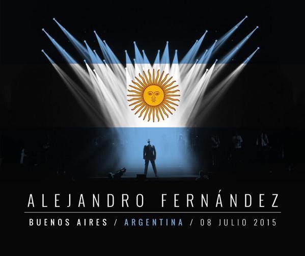 Alejandro Fernández anunció show en Argentina