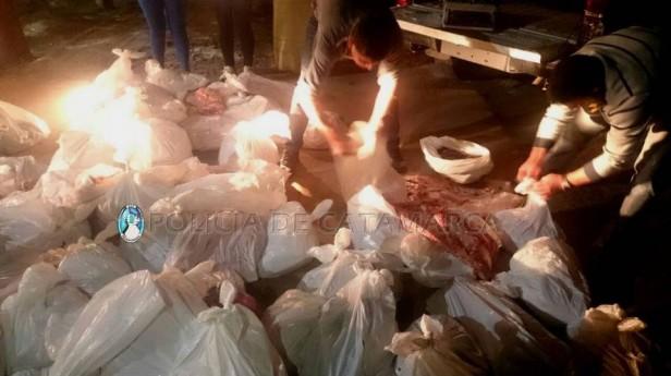Decomisan 400 Kg de embutidos y carne de cerdo en Capayán