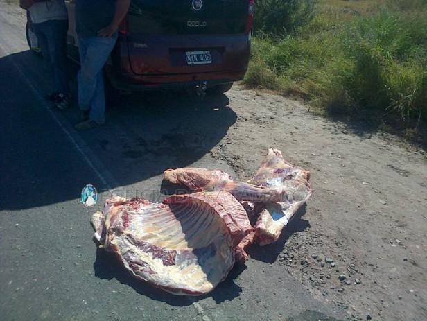 Secuestran 110 kg de carne vacuna en Capayán