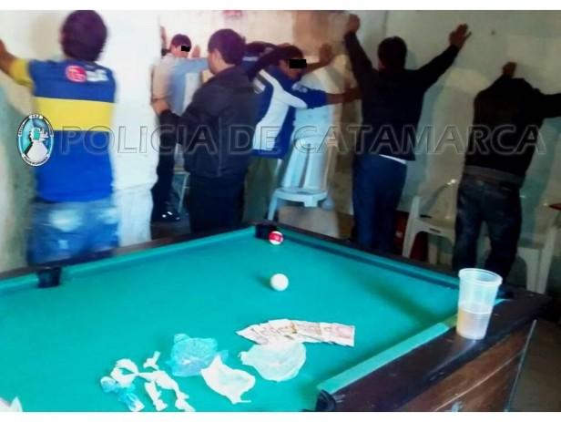 34 Detenidos en un pool clandestino del Barrio Santa Marta