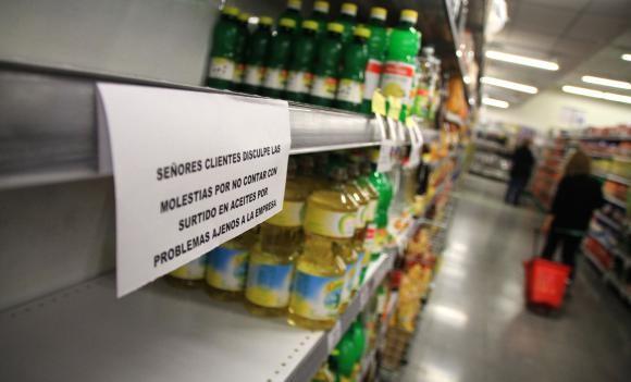 El faltante  de aceite se Siente en Varias provincias