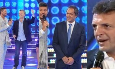 Macri, Scioli y Massa estuvieron con sus esposas en el debut de ShowMatch